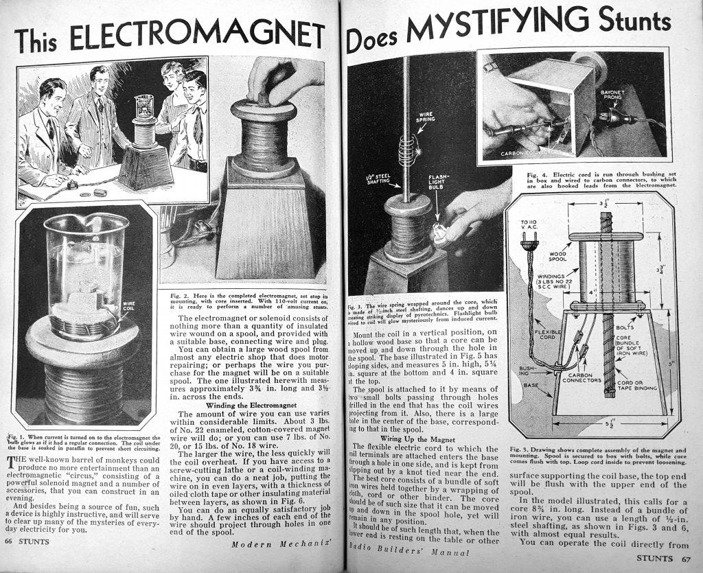 Stebuklingas elektromagnetas.
